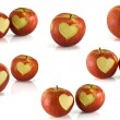Red apple heart — Stock Photo