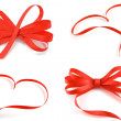 Red heart and ribbon bow isolated on white background — Stock Photo #7962834