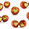 Red apple heart — Stockfoto