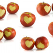 Red apple heart — Foto Stock