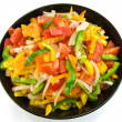 Vegetable salad of paprika, tomato and onion — Stock Photo #8825729