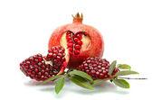 Pomegranate isolated on the white background — Stock Photo