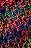 Streaky freezelight light patterns from long exposure — Stock Photo