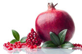 Pomegranate isolated on the white background — Stock Photo