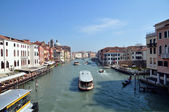A view of the Canal Grande from Ponte di Calatrava - Venezia - Italy — Stock Photo