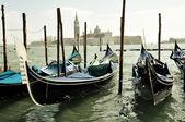 Gondole Venezia San Giorgio Maggiore — Stock Photo