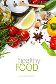 L'huile d'olive et ingrédients — Photo