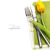Spring table settings — Stok fotoğraf