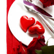 Foto de Stock  : Hearts on a plate