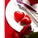 corações em uma placa — Foto Stock