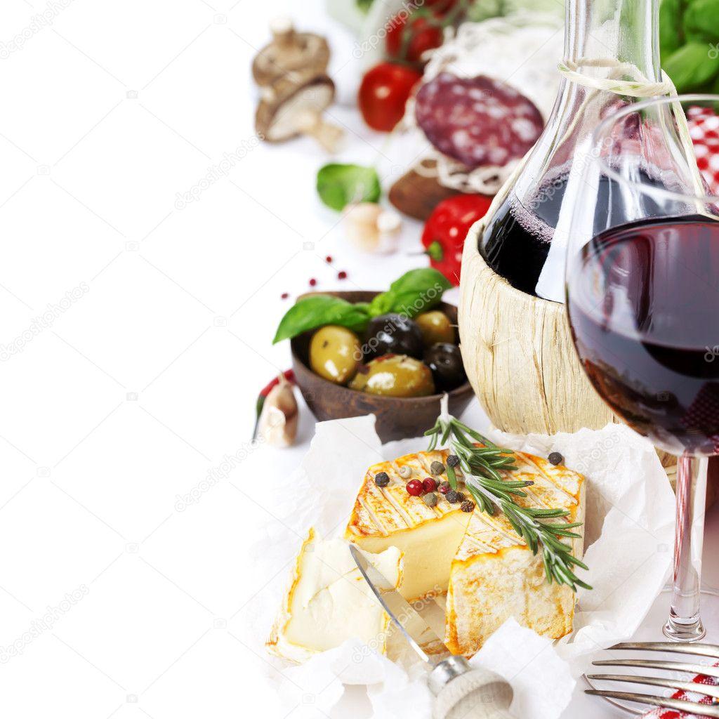 Italian food and wine stock photo klenova 9027611 for Cuisine wine
