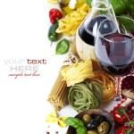 Italian food and wine — Stock Photo