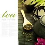 Green tea and chopsticks — Stock Photo #9159025