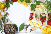 Ingredients fof making Italian Pasta — Stock Photo