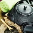 Asian tea set and spa settings — Stock Photo #9649172