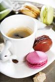 Espresso and macaroons — Stock Photo