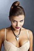 Garota sexy em lingerie clássica — Foto Stock
