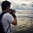 Travel photographer with digital camera — Stock Photo #8982642
