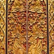 Old wooden door with ornaments In Bali. — Stock Photo