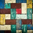 Vintage colorful wooden wall background. - Stock Photo