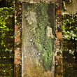 Grunge background of old stone wall texture. — Stockfoto