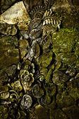 古い石造りの壁テクスチャのグランジ背景. — ストック写真