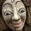 Wooden figure face. Old traditional mask. - Stock Photo