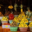 Open air fruit market in village — Stock Photo #8995542