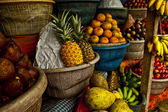 Open air fruit market in the village — Stock Photo
