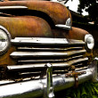 Grunge and hight rusty elements of old luxury car. — Foto de Stock