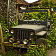 Stranded Jeep in the bushes — Stock Photo