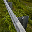Highway guard rail — Stock Photo