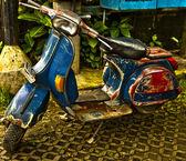 Een oude scooter — Stockfoto