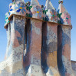 Roof architecture at Casa Batllo - Stock Photo