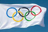 Olympic flag — Stock Photo