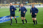 The referees at the game between Aris and Paok — Stock Photo