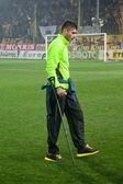 Portero del equipo de aris en fútbol michalis sifakis — Foto de Stock