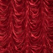 Stock Photo: Theatrical curtain of red color