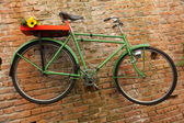 Grünen fahrrad — Stockfoto