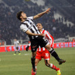 Football match between Paok and Olympiakos (0-2) — Stock Photo #8930169