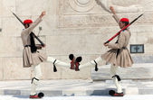 Evzones (presidential guards) — Stock Photo