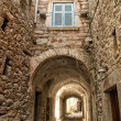 Stock Photo: Mestvillage of Chios island in Greece