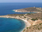 Tigani beach in Chios - Greece — Stock Photo