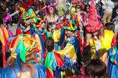 Participant of carnival parade — Stock Photo