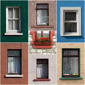 Irish windows — Stock Photo