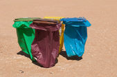 Recycle bins — 图库照片