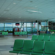 Empty seats at the airport in waiting lounge — Stock Photo #8046698