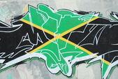 涂鸦墙 (牙买加) — 图库照片