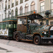 Sightseeing car train in Tomar — Stock Photo