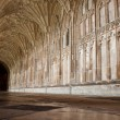 Cloister in Gloucester Cathedral - Stock Photo